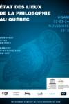 Affiche Etat des lieux de la philosophie au Quebec