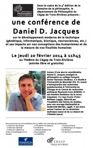 Conférence Daniel D Jacques