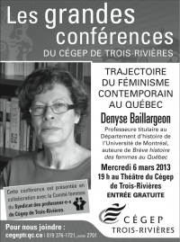 Conférence de Denyse Baillargeon