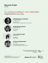 Conférences Arts et philosophie