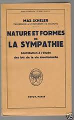 Nature et sympathie-Max Scheler