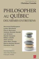 Philosopher au Québec - deuxièmes entretiens