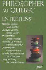 Philosopher au Québec - entretiens