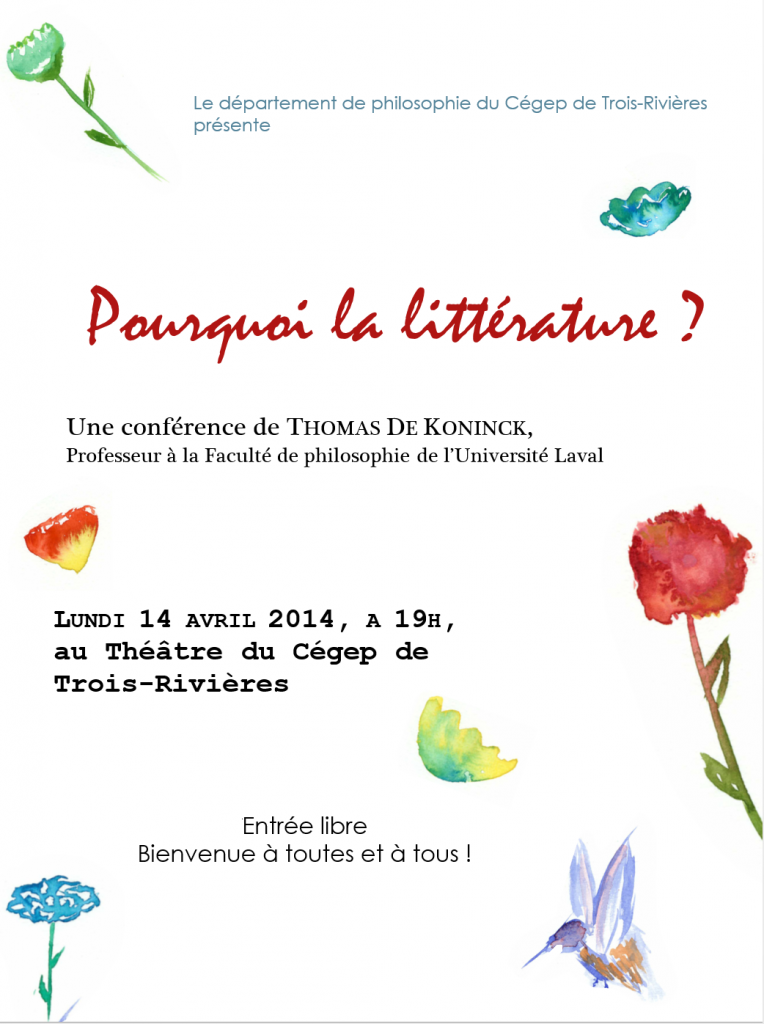 Conférence Thomas De Koninck